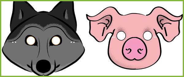 Three little pigs masks