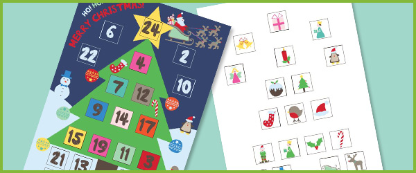 Calendar Ideas Early Years : Christmas advent calendar free early years primary