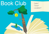 Editable Book Club Poster