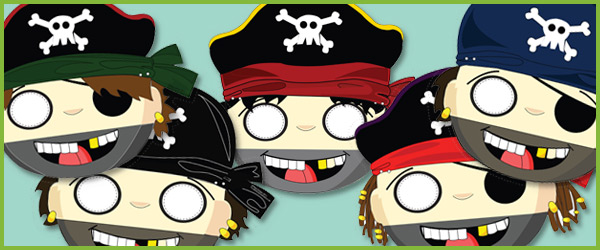 Pirate Role-Play Masks