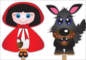 Red Riding Hood Stick Puppets