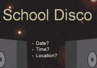 Editable School Disco Poster