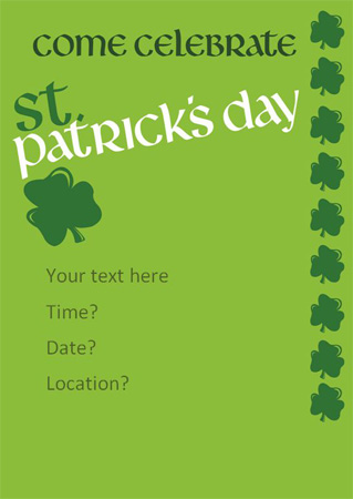 editable stpatricks day poster free early years