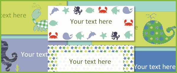 Under the sea labels
