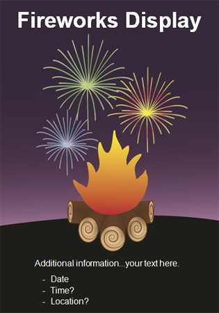 Editable bonfire night poster