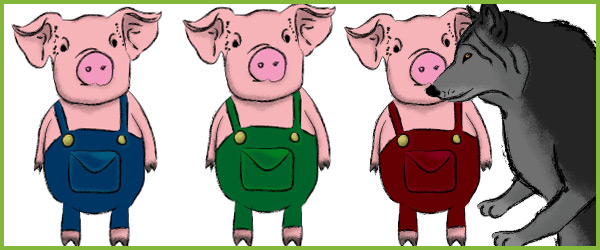 Three little pigs stick puppets free early years for The three little pigs puppet templates