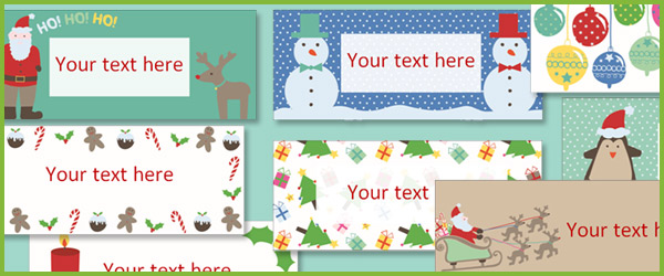 Editable Christmas Labels.Early Learning Resources Editable Christmas Labels