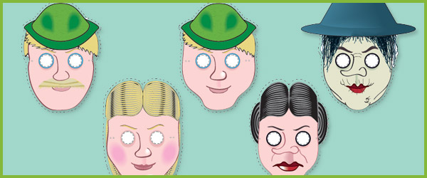 Hansel & Gretel Role Play Masks