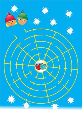 Christmas maze puzzle