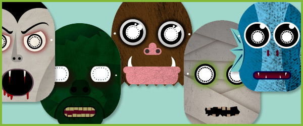Monster role-play masks