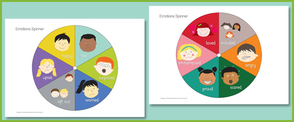 Emotion Spinners | Free EYFS & KS1 Resources