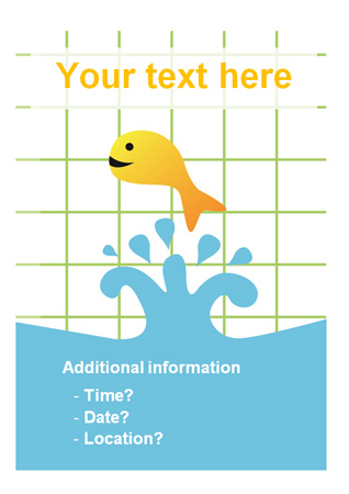 Editable swimming lessons poster
