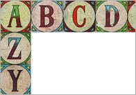 Vintage Alphabet Border