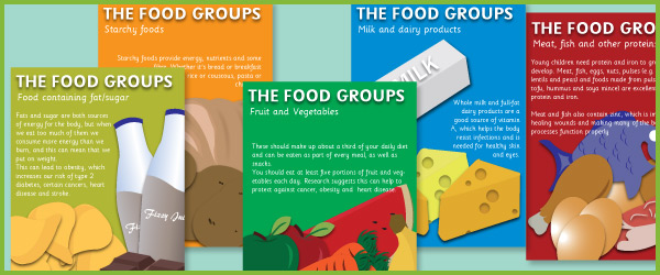 The 5 main food groups | Free Early Years & Primary Teaching ...