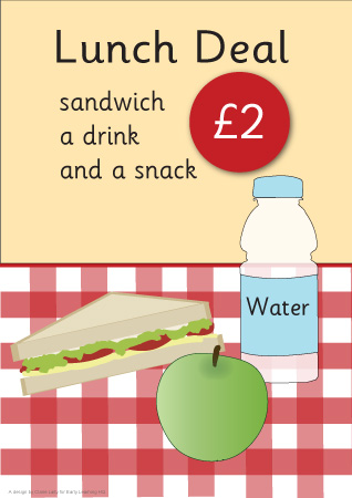 Cafe Role Play Meal Deal Poster Eyfs Free Early Years