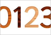 Wood Effect Display Numbers