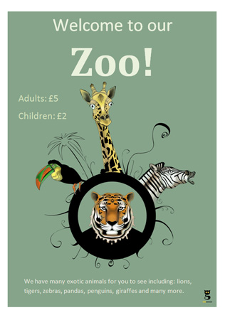 Editable Zoo Poster Free Early Years Amp Primary Teaching