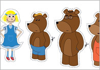 Goldilocks Stick Puppets