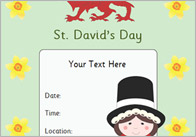 Editable St.David's Day Poster