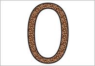 Animal textured thumb Animal Print Display Numbers