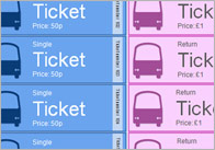 Bus Role-Play Tickets