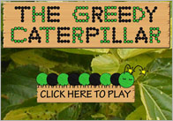 Caterpillar game thumb Greedy Caterpillar Flash Game
