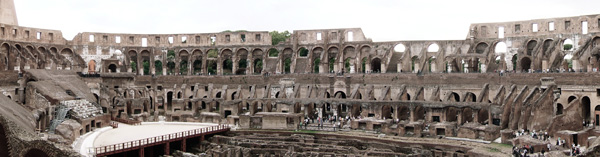 Colosseum and Arch of Constantine Panoramic Photo
