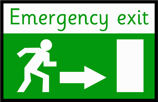 Emergency Exit Poster | Free Early Years & Primary Teaching Resources (EYFS & KS1)