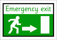 Emergency exit thumb Emergency Exit Poster