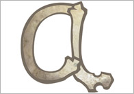 Lowercase thumb Bone Themed Letters (Lowercase)