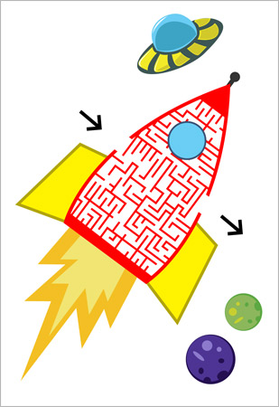 Spaceship Maze Puzzle Free Early Years Amp Primary