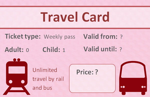 Editable Role Play Travelcard  Play Ticket Template
