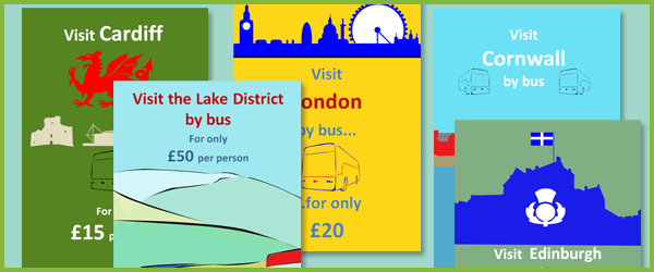 Editable bus travel posters early years role play free for Free travel posters for teachers