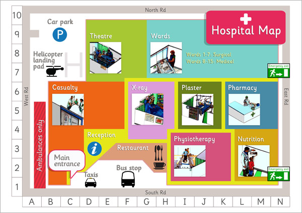 Hospital Map Poster