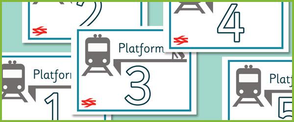 Train Station Platform Posters