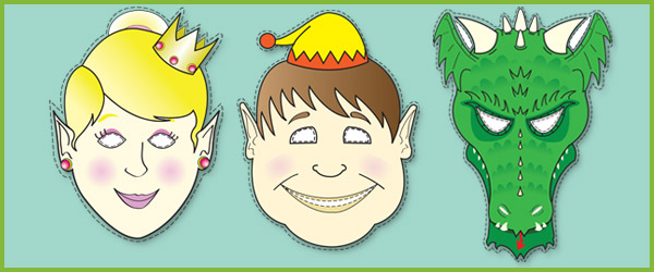 Fairy, Elf & Dragon Masks