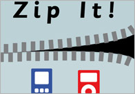 'Zip-it' Train Station Poster