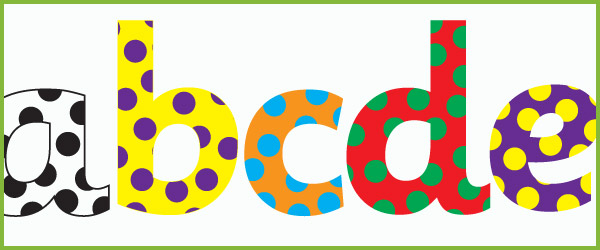 Polka dot display letters free early years primary teaching polka dot display letters spiritdancerdesigns Images