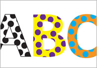 Polka Dot Display Letters