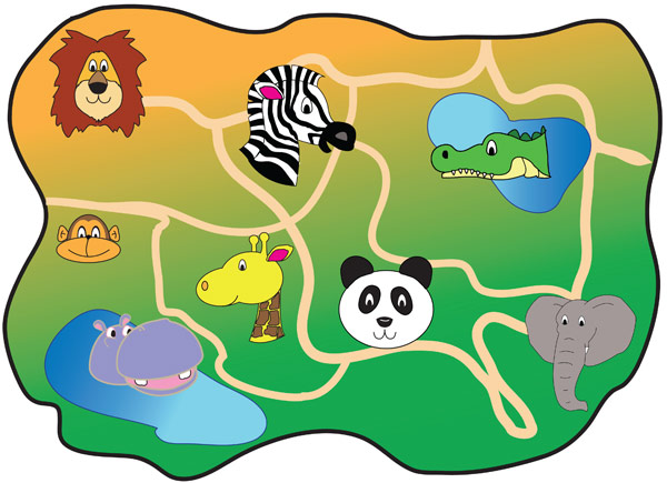Zoo Map Template Zoo Map