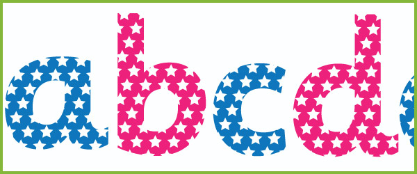 Star themed display letters free early years primary for Display lettering