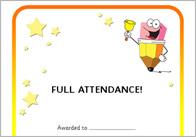 Editable Attendance Certificates