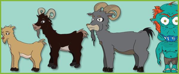 Billy Goats Gruff Puppets