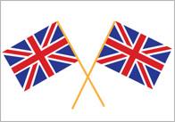 Union Jack Cupcake Flags