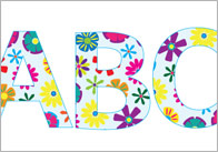 Floral Display Letters