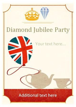 Diamond Jubilee Party Poster
