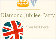 Editable Jubilee Party Poster