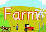 On The Farm Display Poster