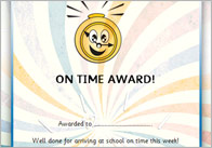 Editable Punctuality Certificates