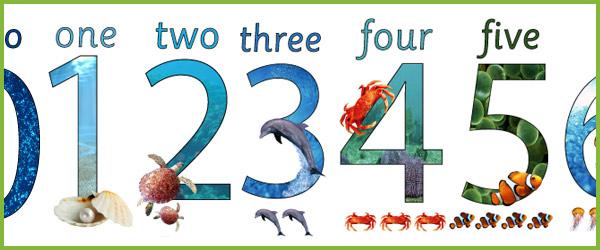 Under the Sea Display Numbers